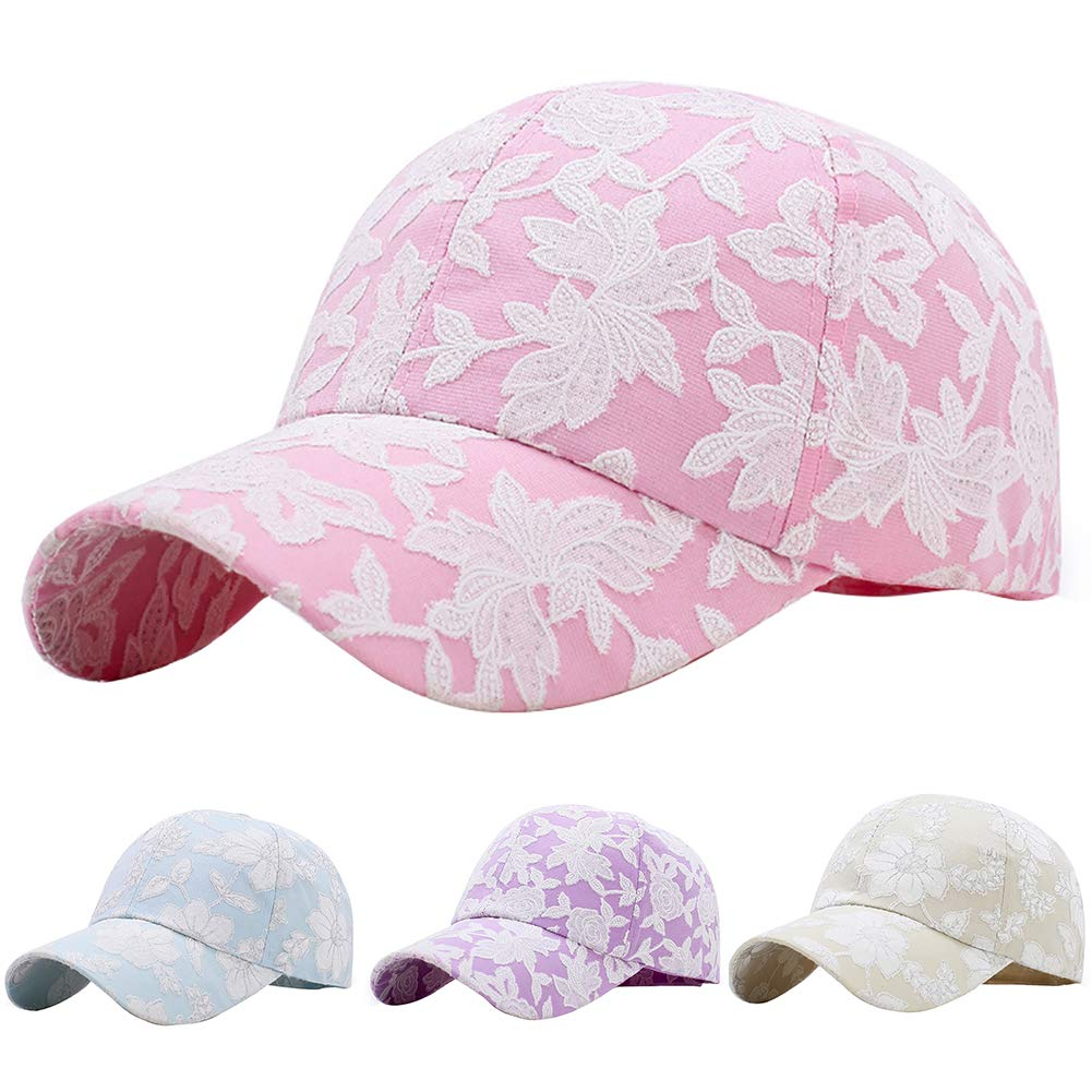 Amazon.com   Lastnight Fashion Flower Style Outdoor Baseball Cap Snapback  Hip Hop Sun Hat Curved Brim Cap Classic for Women Beige   Sports   Outdoors 173879372cea