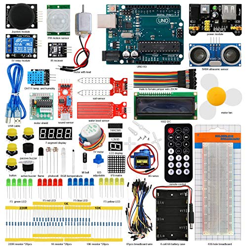 (Seesii UNO R3 Super Starter Kit for Arduino with 140 Pieces Basic Practical Components Free PDF Detailed Tutorial 29 Lessons)