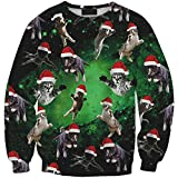 XueXian(TM) Mens Womens Couple Spring Fall Cartoon Pullover Sweater Christmas Gift (China XXXXL:Bust 44.88'',Graphic 3)