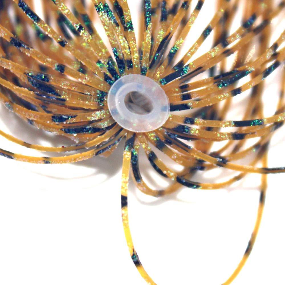 Lixada 5 PCS 13cm Jig Skirt Faldas de Silicona Faldas de Goma Falda de Pesca Cebos Se/ñuelo de Pesca par Spinnerbaits Buzzbaitsa