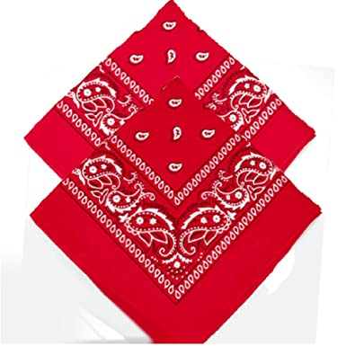 Women /& Kids Neck scarf Handkerchief Head tie kerchief Neck Tie hankie shawl veil Neckerchief babushka bandannas novelty wear Pack of 2 Red /& dark green Paisley Bandanas for Men