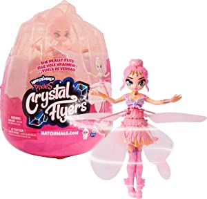 Hatchimals Pixies, Crystal Flyers Pink Magical Flying Pixie Toy, for Kids Aged 6 and up