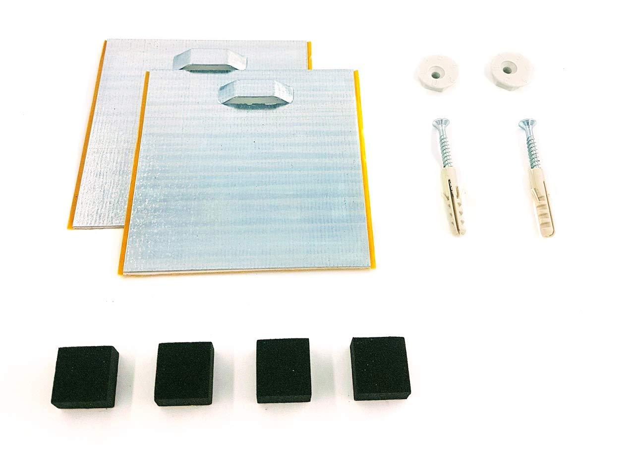 Accessori per appendere un pannello o specchio, acrilico, in alluminio dibond, autoadesivi, 10x 10cm 10x 10cm LagunaProject