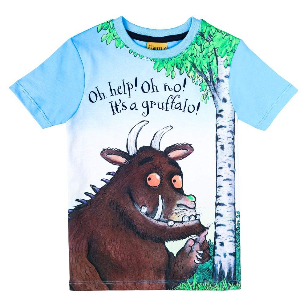 Gruffalo Ragazzi Maglietta T-Shirt Blu Scuro