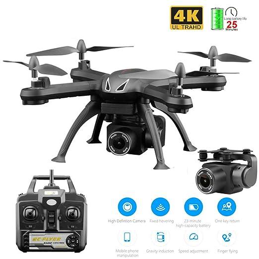 Drone WiFi FPV RC Quadcopter con cámara 4K Selfie Drone con ángulo ...