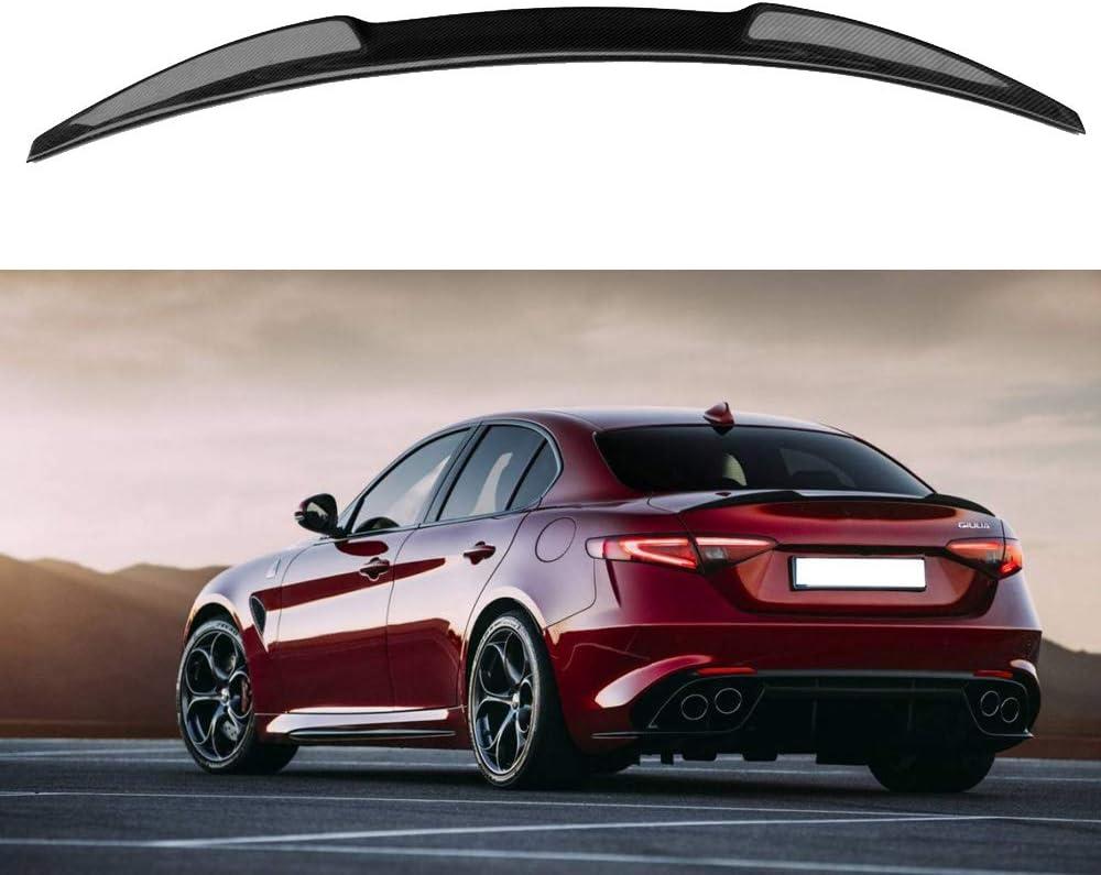 Alfa Romeo Giulia Carbon Fiber Trunk Rear Spoilers Quadrifoglio Style  2016 up