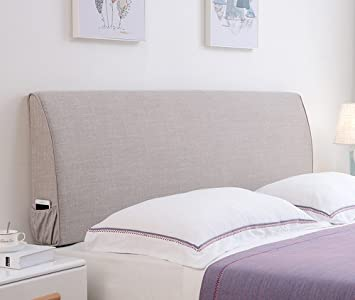 Amazon.com: Cushions Bedside linen pillowcase wall soft bag ...