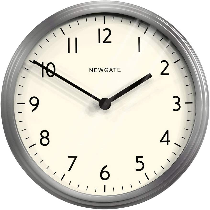 NEWGATE-Clocks The Spy Clock - Brushed Steel
