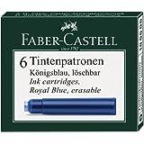 Faber-Castell 185506-Cartuchos de Tinta estándar, 6unidades), color azul