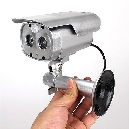 Seesii Vigilancia del CCTV del sensor humano eléctrica solar falsas cámara simulada del Grabación con Flashing