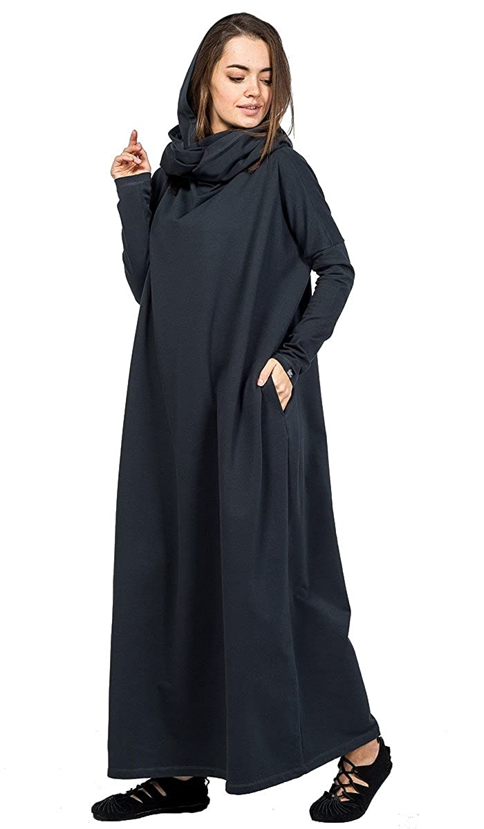 IndiaStyle Boho Spring Women Black Original Long Oversize Casual Festival Maxi Dress