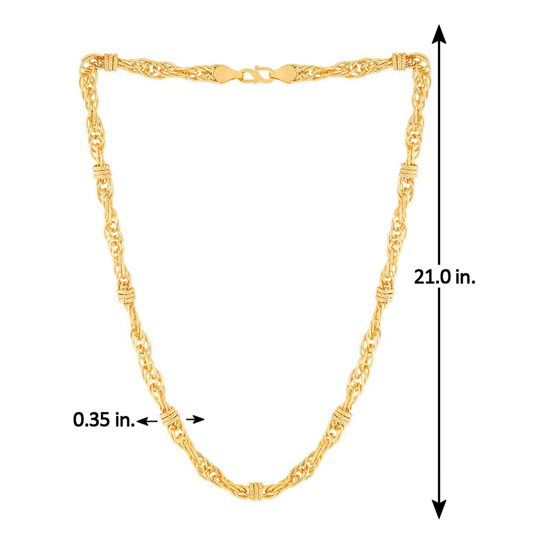 d927c6c6cb2bd Voylla Chain for Men (Golden)(8907617814131)  Amazon.in  Jewellery