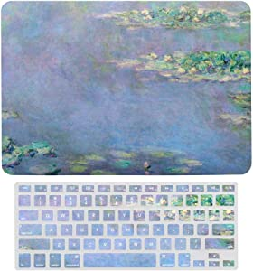 MacBook Pro 13 inch Case 2020 2019 2018 2017 Release A2159 A1989 A1706, Plastic Hard Shell Case&Screen Protector with Keyboard Cover, Monet Les Nympheas Water Lilies