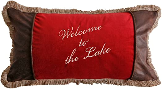 Carstens Welcome To The Lake Pillow
