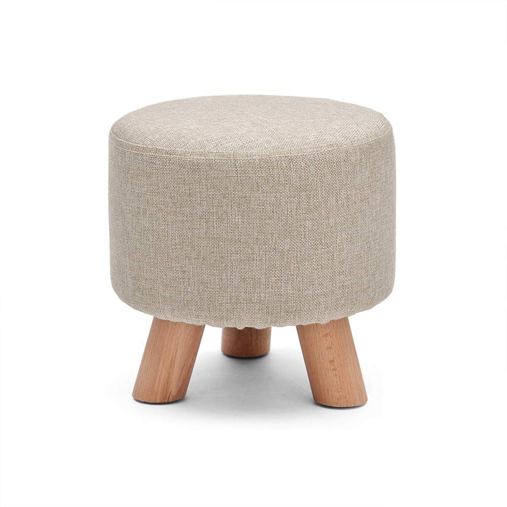 B+3legs Comfortable Lounge Chair Footstool Footstool shoes Stool Sofa Stool Fabric Detachable Coat Solid Wood Frame Non-Slip with Real Wood Legs Highly Elastic Sponge Filling,F+4legs (color   F+4legs)