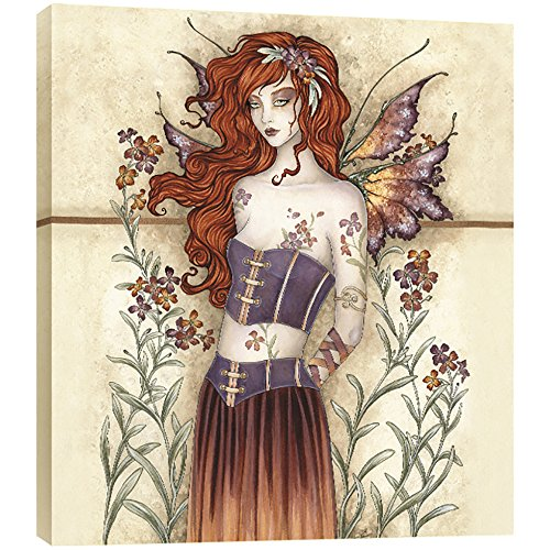 Fairy Frame - Tree-Free Greetings Wall Flower Fairy EcoArt Wall Plaque, 11.2 x 0.5 x 11.2 Inches (AP83564)