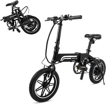 SwagCycle EB-5 Pro bicicleta eléctrica plegable de aluminio y ...