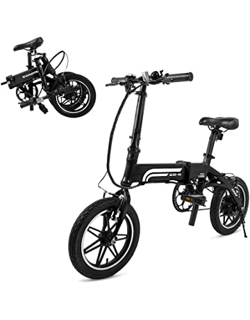 35437b8b10c SwagCycle EB-5 Pro Lightweight and Aluminum Folding EBike with Pedals,  Power Assist,