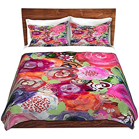 Duvet Cover Brushed Twill Twin Queen King SETs DiaNoche Designs Robin Mead June