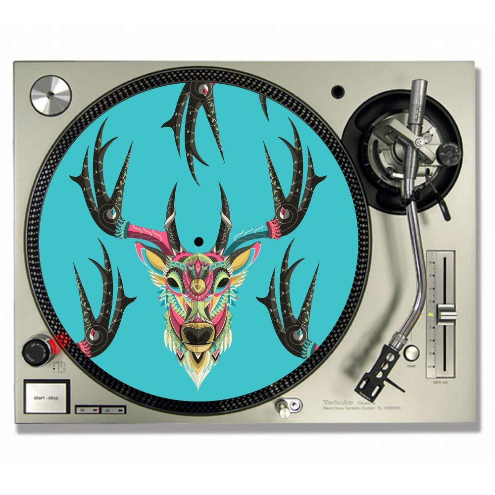 Tapetes de vinilo para tocadiscos de DJ, con diseño de cabeza de ...