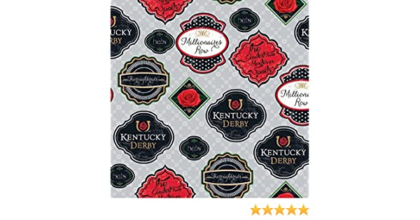 Kentucky Derby Badges 100/% cotton Fabric by the yard