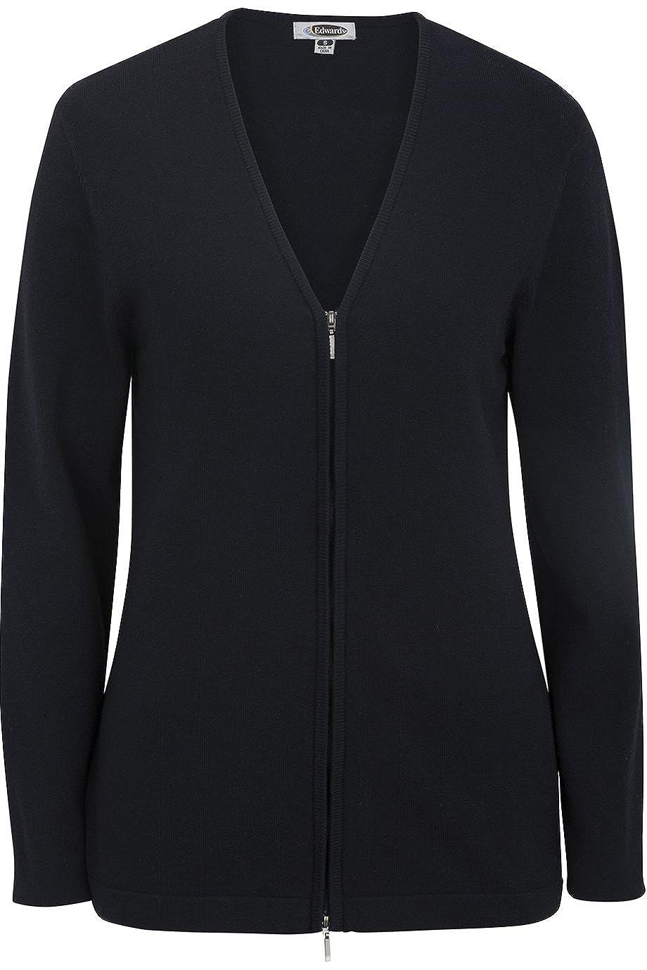Edwards Womens Full Zip V-Neck Cardigan Sweater Navy XXX-Large 7062