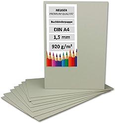 300x Buchbinderpappe DIN A3 in Schwarz 1.370 g//m/² Grammatur St/ärke 2,0 mm