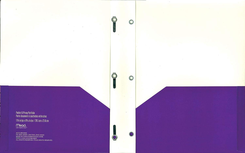 33595 Mead Pocket /& Prong Portfolio Modern Chic Purple 9-5//16 x 11-5//8 Inches