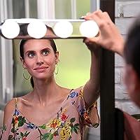 Luzes de Espelho Estilo Camarim 4 Lâmpadas LED com Ventosa
