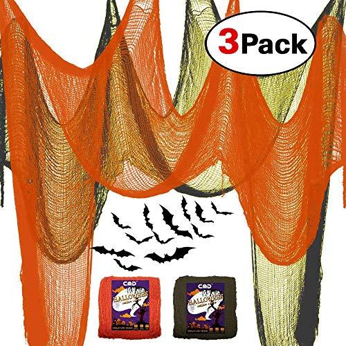 CMD 2PCS Scary Halloween Decor Creepy Cloth Decorations (Green&Orange, 39