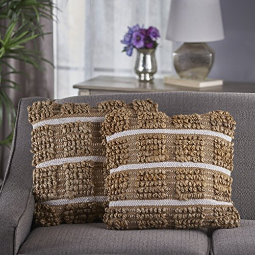 Jute Throw (Great Deal Furniture Selki Natural Jute Pillows (Set of 2))