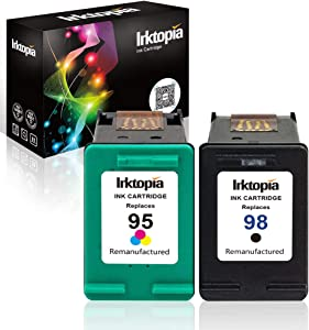 Inktopia Remanufactured Ink Cartridge Replacement for HP 98 95 (1 Black, 1 Tricolor) 2 Pack