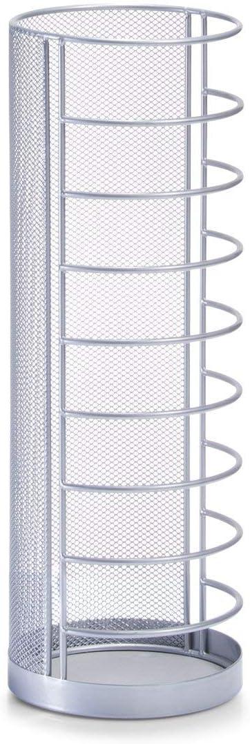 Zeller Umbrella Stand 14x40,5cm, Metal, Silver, 48x48x18 cm