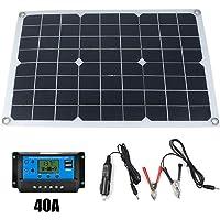 Panel Solar de silicio monocristalino de 50W 12V / 5V Cargador de batería Solar USB de Doble Salida con Controlador de…