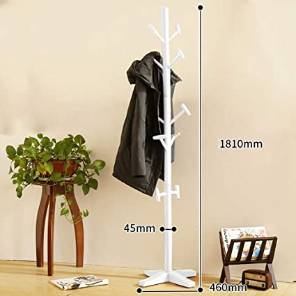 MEIDUO Coat Rack Free Standing Entryway Wooden Clothing Rack Hat Corner Hall Umbrella Stand Tree for