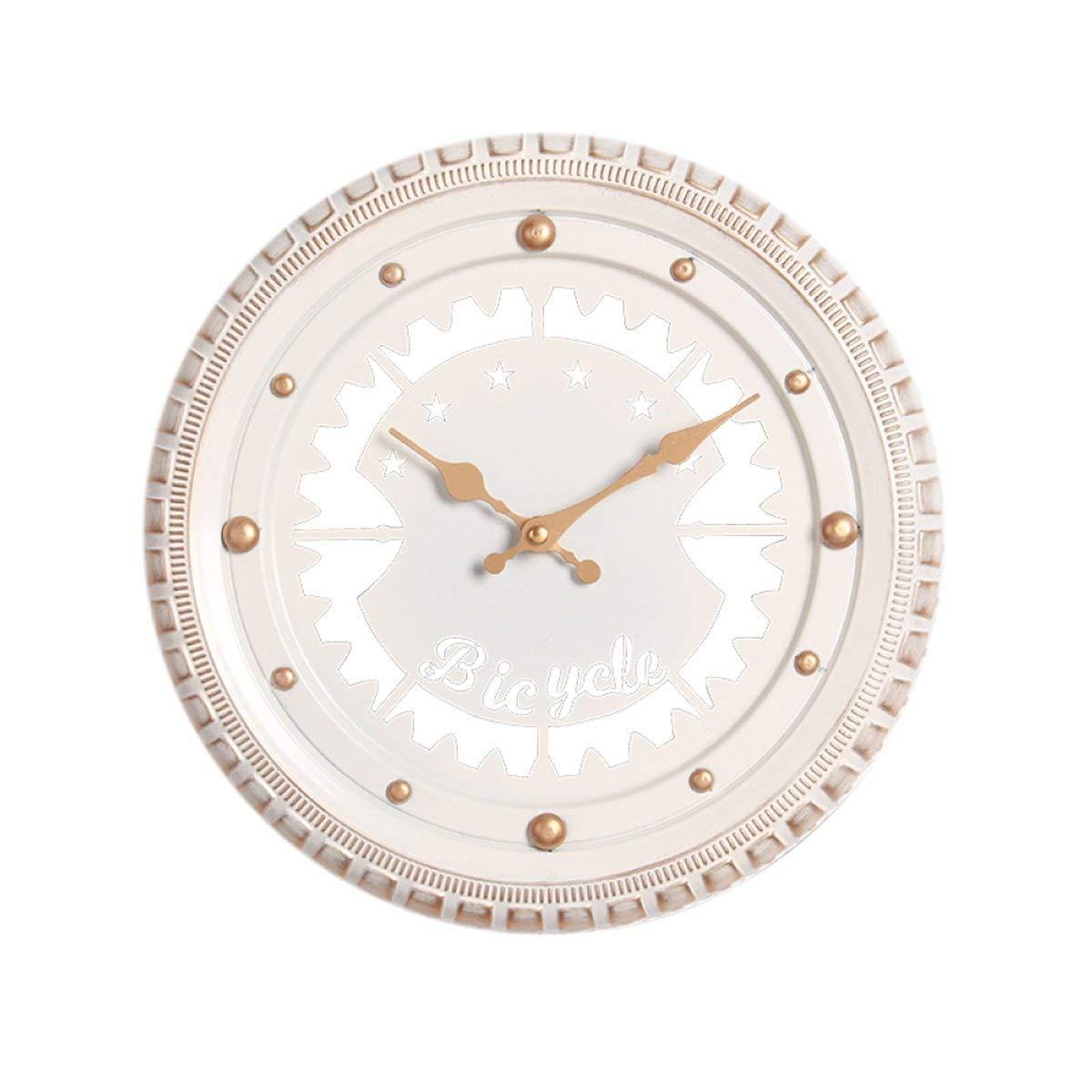 Mings Hermosa y Practica Reloj de Pared decoración Interior Simple Reloj Creativo Mute neumático (Blanco 30  5.5cm Embalaje de 1)