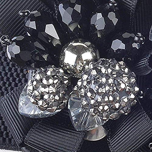 yuangungun Mode Perles Conception Tissé Élastique Cristal Artificiel Large Ceinture Dame De Mode Femme Ceintures Ceinture pour Les Femmes