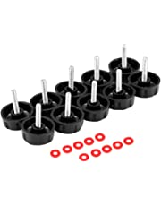 D DOLITY 10pcs Screw Caps, Fishing Spinning Reel Handle Screw Caps Bearing Covers with Gaskets