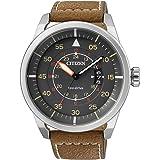 Citizen Herren-Armbanduhr Analog Quarz Leder AW1360-12H