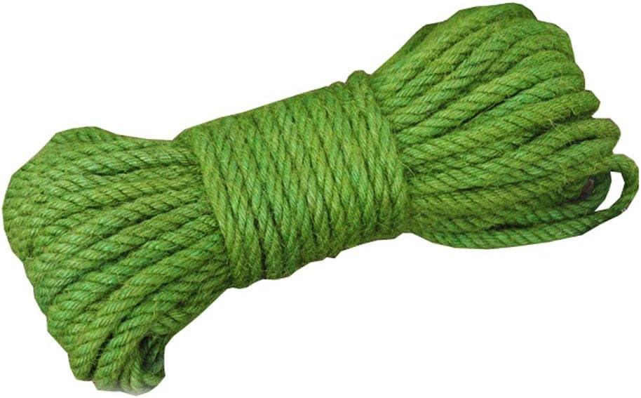6 mm de di/ámetro Black Temptation Green Jute Twine Cuerda de Cuerda de Yute Natural ecol/ógica 65 pies