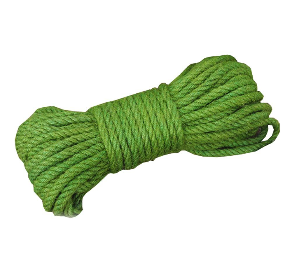 DRAGON SONIC Green Jute Twine - Eco-Friendly Natural Jute String Rope - 65 ft - 6mm Diameter by DRAGON SONIC