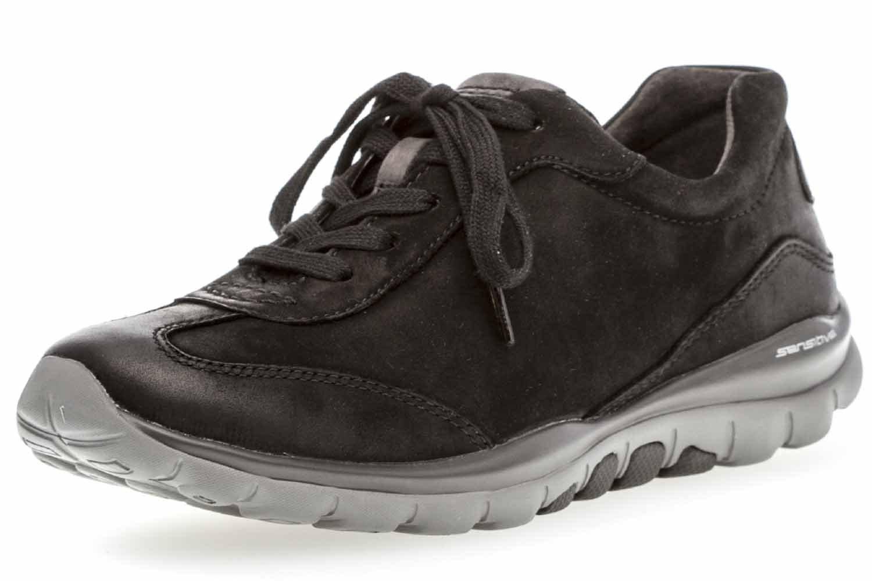 Gabor Shoes Rollingsoft, Derby para Mujer 44 EU|Schwarz/Anthrazit