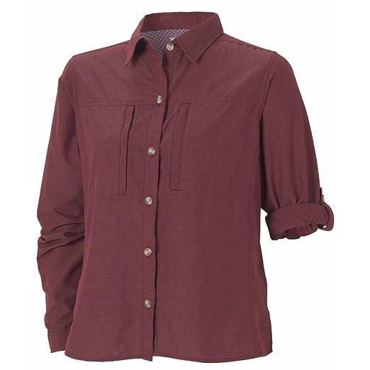c652c2cd Amazon.com: ExOfficio Women's Dryflylite Stripe Long Sleeve, Wine, X ...