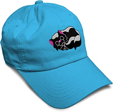 Custom Baseball Cap Skunk with Flower Embroidery Dad Hats for Men /& Women