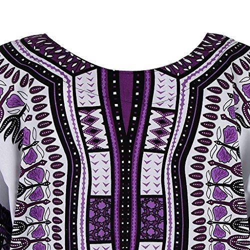 MagiDeal Frauen Traditionelle afrikanische Dashiki Minikleider ...