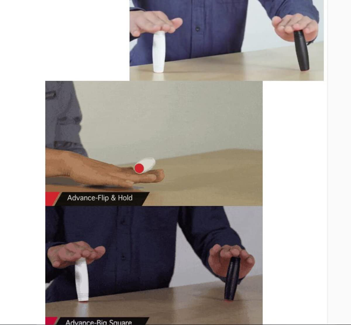 2 emball/és blanc // bleu 2-Emball/é Amazing Desk Toys,Tablette en bois Fidget /Étonnante tablette /à papiers roulants Version anti-anxi/ét/é pour jouet Party Flip