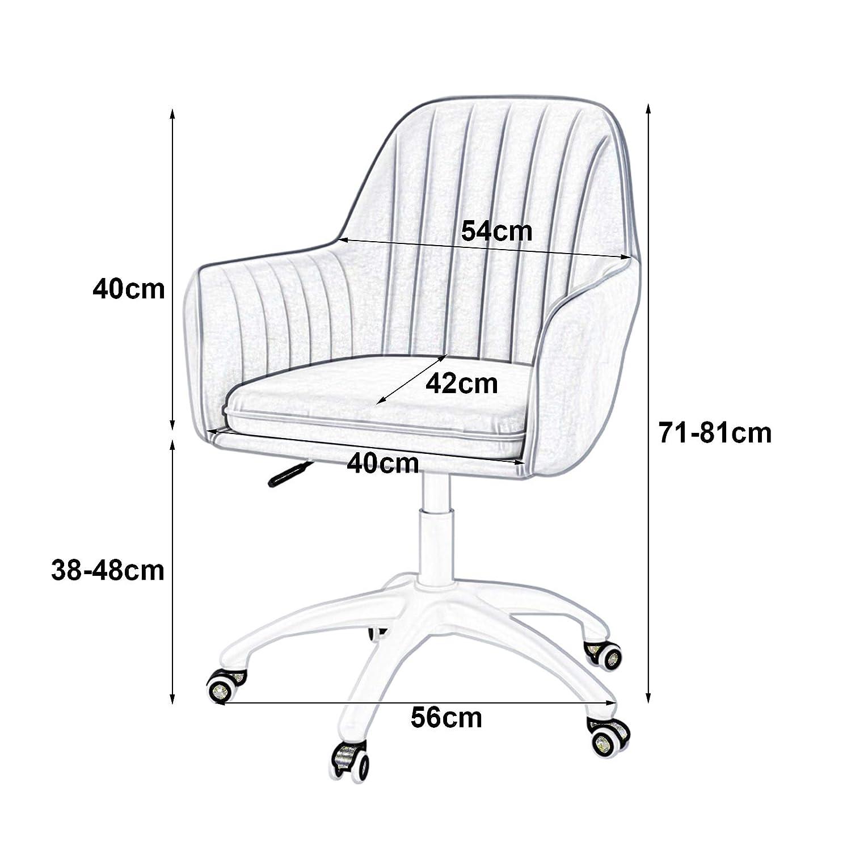 Mittrygg svängbar kontor ergonomisk skrivbordsstol justerbar höjd datoruppgift stol för hem vardagsrum fåfänga sovrum Mörkblått