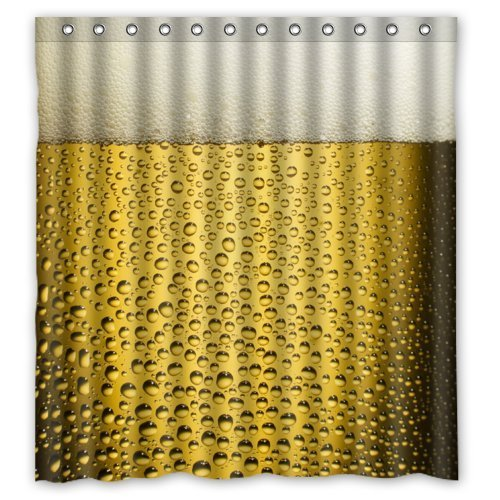 Shower Curtain Company Decorate your bathroom - Funny Style Cool Beer Shower Curtain,100% Polyester Waterproof Fabric,66X72 inches Inches,Shower Rings Included