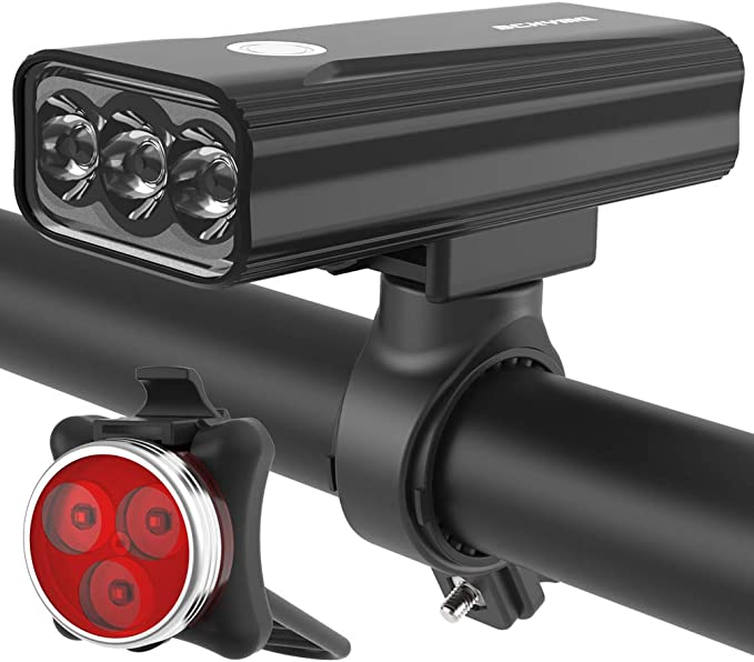 Banco de energ/ía 4000mAh Kit de Luces de Rueda SIYUMAOYI Kit de Luces de Bicicleta Recargables USB luz Trasera para Seguridad de Bicicleta