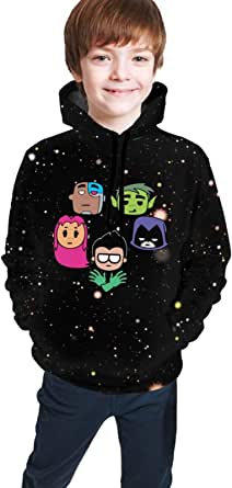 maichengxuan Children's Hoodies Te-En Ti-Tans Go 3D Print Pullover Hooded Sweatshirt for Girls/Boys/Kid's/Youth